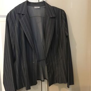 Dark Grey Skirt Suit Stretchy Fabric